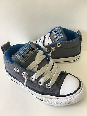 03a79b834aa5ed Youth Converse All Star High Top Canvas Gray Athletic Shoes Chuck Taylor  Size 11