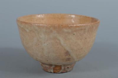 R5823: Japanese Shino-ware White glaze TEA BOWL Green tea tool Tea Ceremony
