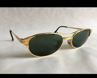 Vintage RAYBAN SIGNET 24k Gold Plated Sunglasses Bausch & Lomb USA