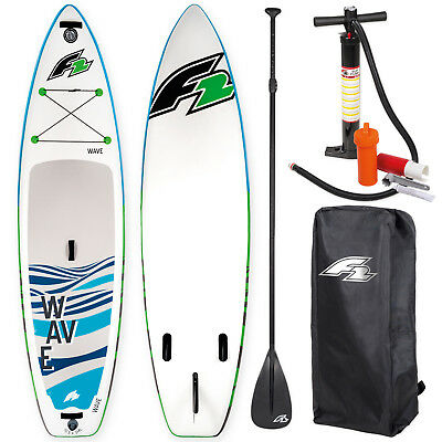 "F2 Sup Wave 11,5"" 2018 Stand Up Paddle Board Aufblasbar + Testboard"