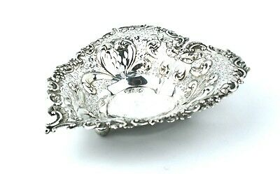 Early 20th C. Sterling Silver Heart Shaped Dish 3 Footed American Gorham Silver