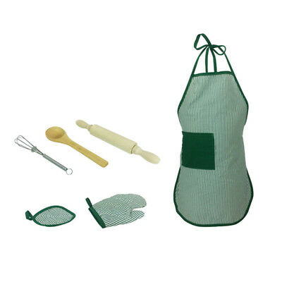 6pcs/set Kids Pretend Role Play Kitchen Baking Cooking Food Toy Whisk Apron Chef