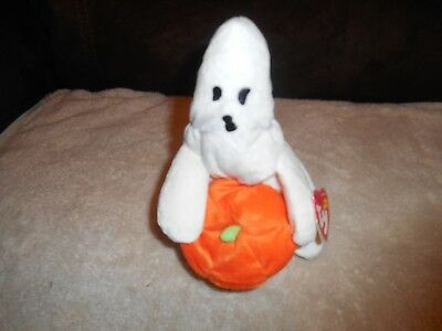 Ty Beanie Babies Ghoul The Halloween Ghost Plush 2004 With Hang Tag