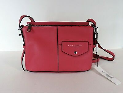 d650930b65b3 New Marc Jacobs M0013259 The Side Sling Leather Crossbody Watermelon bag  patch