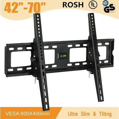 TV Bracket Wall Mount Slimline Tilting LCD LED 42 43 48 49 50 55 60 65 70 Inch