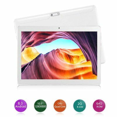 10.1'' 64GB Android 6.0 Tablet Octa Core 10 Inch HD WIFI 2 SIM 4G Phablet Lot SW