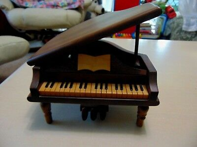 Beautiful Vintage Wooden Piano Music Box 1950s Collectable