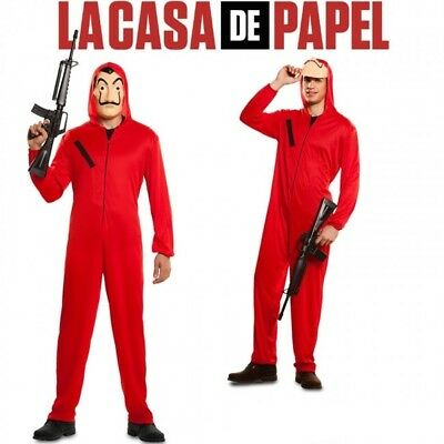 La Casa De Papel Costume Salvador Dali Cosplay Halloween Kids Adult Women Men