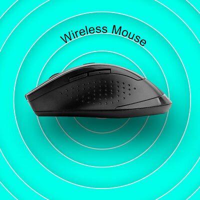 2.4GHz Wireless Optical Mouse &USB Receiver Adjustable DPI for PC Desktop Laptop