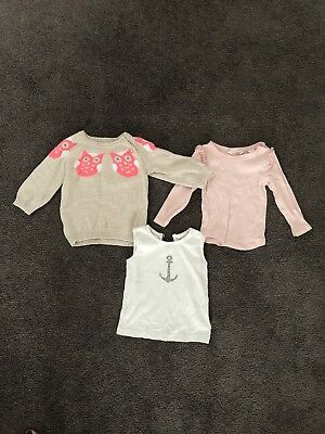Seed Jumper (6-12mths), Country Road Top (6-12mths), Purebaby Singlet (size 1)