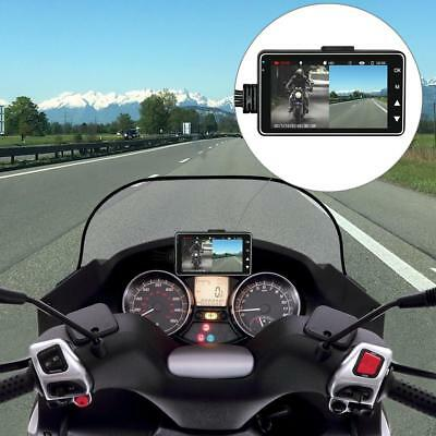 AU Motorcycle Biker 3'' LCD Dual Lens Camera Camcorder Video Dash Cam Recorder