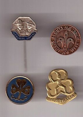 4 Badges Two Scout Two Girl Guides