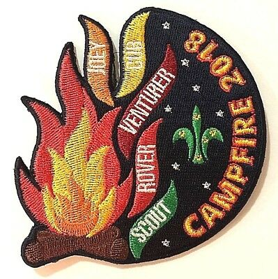 2018 AUSTRALIAN SCOUTS CAMPFIRE BADGE - Annual Campfire: Flames of Scouting
