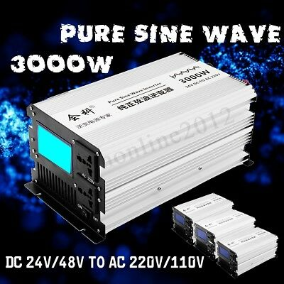 1500W(PEAK3000W) LED Pure Sine Wave Power Inverter DC 12V To 110V 120V AC