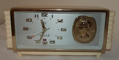 Vintage Diamond Mechanical Alarm Clock Made in Shanghai - Queen Elizabeth II