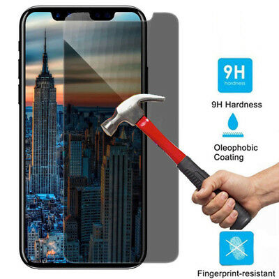 Privacy Anti-Spy Tempered Glass Screen Protector Shield for iPhone X 8 Plus Max
