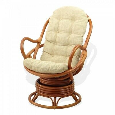 Amazing Rattan Wicker Swivel Rocking Chair Handmade David With Beige Spiritservingveterans Wood Chair Design Ideas Spiritservingveteransorg