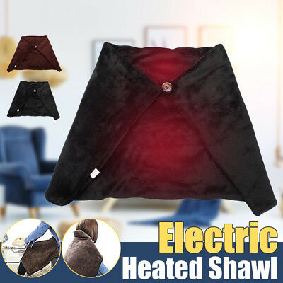 Winter Soft Heated Shawl USB Powered Electric Warming Heating Lap Blanket Pad