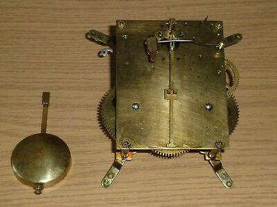 German 1930's clock movement with pendulum - for spares