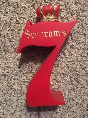 Rare Vintage Seagrams 7 Bar Light Up Sign Advertising ! Look !