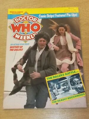 Doctor Who #21 1980 Mar 5 British Weekly Monthly Magazine Dr Who Dalek Cybermen