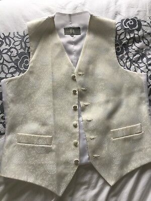 """Mens Ivory Formal Waistcoat By Heirloom - Size 40"""""""