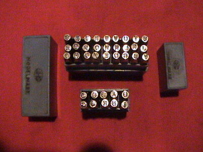 Vintage set of J H Shand (JHS) Modelmark marking stamps letters/numbers 3mm/1/8""