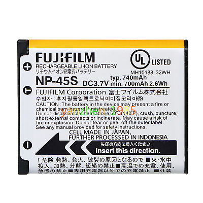 Genuine Original FujiFilm NP-45S Battery for FinePix J20 J26 J27 J30 J35 Z71 Z80