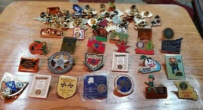 Vtg - Lot of 50+ American Legion Pins, Buttons - new and used  - NICE