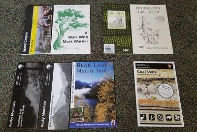 US National Parks Trail Guide Lot Grand Canyon Rocky Mountains More!!
