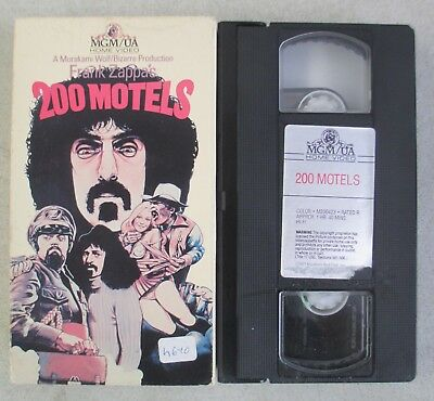 Frank Zappa's 200 Motels Vhs Tape Mgm Ringo Starr Mothers Of Invention