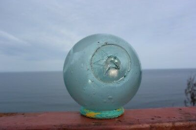 JAPANESE FISHING GLASS FLOAT with STAR