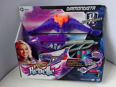 Girls -  Nerf Rebelle Diamondista Crossbow Toy - Brand New - Bullets Included