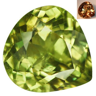 7.91Ct Charming Pear Cut 13 x 12 mm AAA Color Change Turkish Diaspore