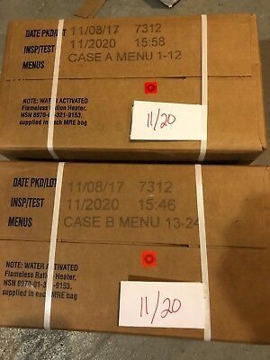 Military MRE 11/2020 Inspection Date A and B Case