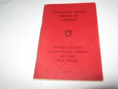 SOVEREIGN GREAT PRIORY OF CANADA ORDER of THE RED CROSS 1970 BOOKLET