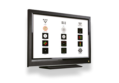 "Digital Visual Acuity Panel w/ remote and 24"" TV"