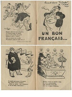 France, Judaica, 1941, illustrated, 16 pages, derogatory.