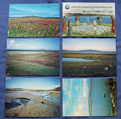 6 modern postcards - Isle of Berneray (North Uist), Western Isles