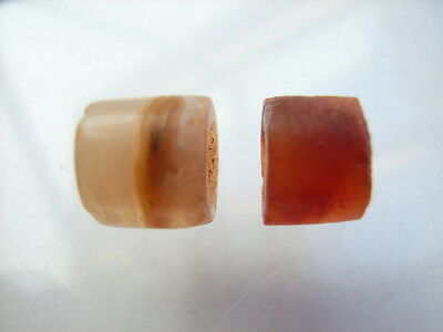 2 Ancient Neolithic Agate Beads, Stone Age, RARE !!