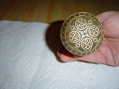 Antique Victorian Eastlake Ornate brass/bronze  door knob set