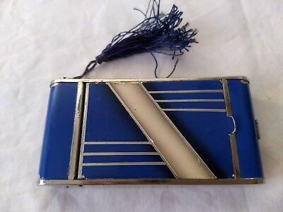 Vintage Art Deco Camera Kamra Style Powder Compact Cigarette Lipstick Case