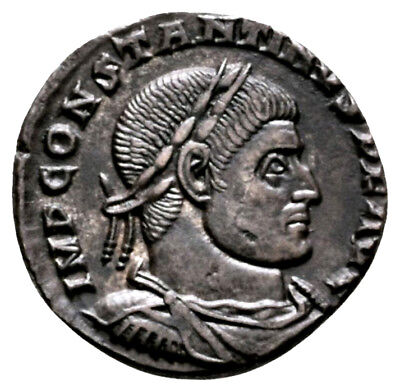 CONSTANTINE THE GREAT (315 AD) AE Follis, Sol Arles #MA 631