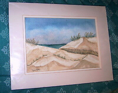 """Sand Dunes""  Original Watercolor Painting by Marie Kook Watercolors"