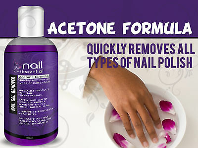 Nail Essential Nail Gel & Polish Remover Acrylics UV LED Manicure Acetone 250ml