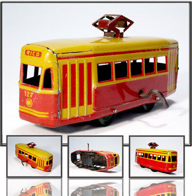 TOPTINTOY: NEARLY 90 YEARS OLD TRAMWAY MOTOR WAGEN BY RICO, SPAIN 1930s