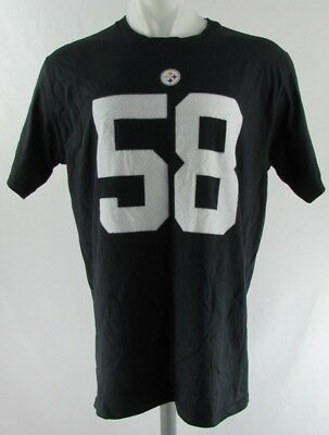 39b77d101 PITTSBURGH STEELERS  58 Jack Lambert Fanatics Black Large Jersey Tee ...