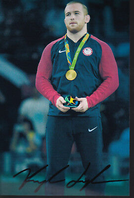Kyle SNYDER – USA - Ringen - 1.OS Gold Olympia 2016 Foto signiert