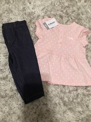 Baby Girls Carters Outfit Size 6 Month
