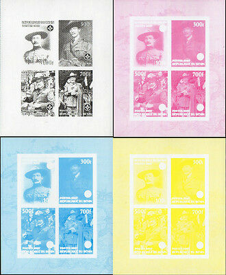 BENIN 2007 SCOUT BADEN POWELL BF 4 v. PROOF  MNH ** X